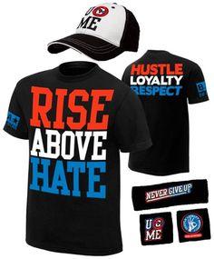 sports shoes 24136 4c1c1 Details about John Cena Kids Orange Costume Hat T-shirt Wristbands Boys