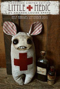 Little Medic  by Amanda Louise a great doll artist