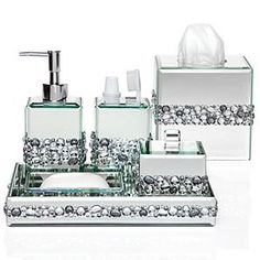 bathroom accessories sets silver. Glam Accessories For The Bathroom Sets Silver A