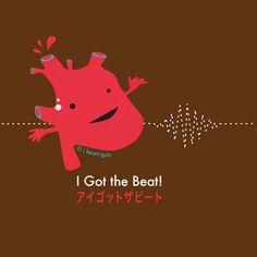 W49490: I Heart Guts Anatomy Tees - Heart