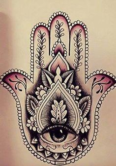 Hamsa Hand Tattoo, Dotwork Tattoo Mandala, Hamsa Tattoo Design, Tattoo Designs, Hamsa Design, Sanskrit Tattoo, Lotus Tattoo, Neue Tattoos, Body Art Tattoos