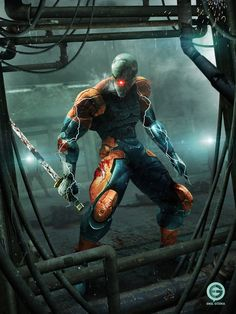 Cyborg Ninja by EmilGoska