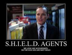 S.H.I.E.L.D AGENTS … Bad asses