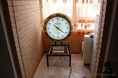 Muy grande y precioso reloj de tienda Omega atomico publicitario de dos faces - Foto 3