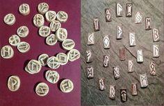 Futhark antigüo, tallado en diversos materiales, tejo, asta de ciervo, piedra, etc...  Es la forma mas antigua del alfabeto runico, cada runa tiene un significado, siendo a su vez talismanes de protección.  45€ (juego completo) #futhark #vikins #runas #odin