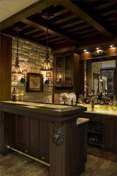 nice size bar, not in middle of the room, but still statement. inspiration for our rum tasting room
