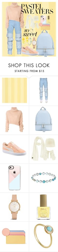 """""""THE BIRTH OF A NEW SEASON"""" by edibe-gambino ❤ liked on Polyvore featuring Y/Project, Ann Demeulemeester, MICHAEL Michael Kors, Puma, Casetify, Ippolita, ncLA, Roksanda, Misa and pastelsweaters"""