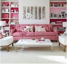 Light Pink Casual Sofa. www.rilane.com