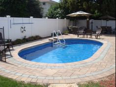 small inground pools for small yards | ... Inground Pools With White Permanent Fence, Semi Inground Pools, wood