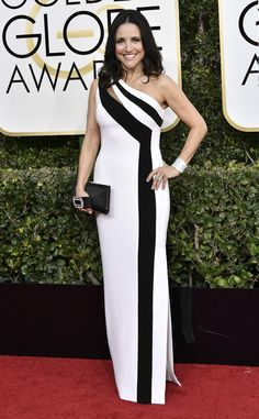 Julia Louis-Dreyfus in Edition by Georges Chakra from 2017 Golden Globes Red Carpet Arrivals