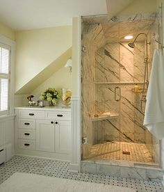 Awesome Shower. #Bathroom #Remodel http://www.remodelworks.com/