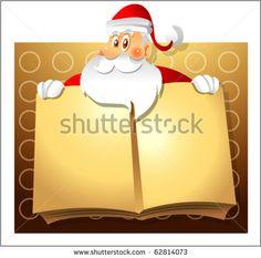 santa claus and book - stock vector