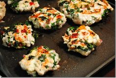 Mini Greek Burgers- serve as a slider or on bed of spinach with more feta and sundried tomatoes?