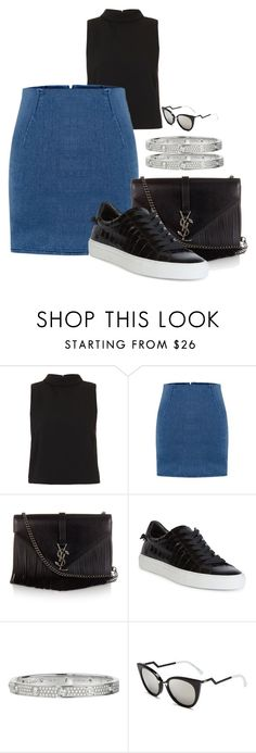 """Sin título #2111"" by moxfordf on Polyvore featuring moda, Topshop, Yves Saint Laurent, Givenchy, Cartier y Fendi"