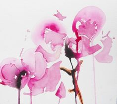 """Karin Johannesson; Painting, """"Orchid study I"""""""