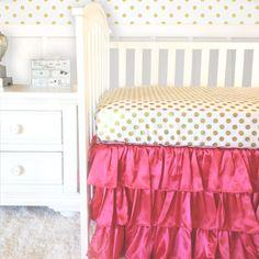Bumperless Coral Baby Bedding Crib Bedding by RitzyBabyOriginal