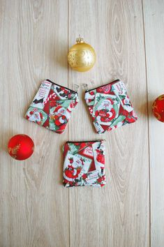 Cute Kids' Coin Purses (3 items in the set) https://etsy.me/2sL0Rd4 #etsy #airyfairybags #christmas #kidswallet #santaclauscard #zipperpouch #coinpouch #smallxmasgifts #stockinggift #stockingstuffer #matchingbagset #santabag #canvascoinpouch #coinpurse #christmasgift