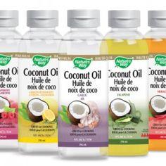 Échantillons gratuits de l'huile de coco liquide aromatisée