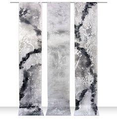 Encaustic on mesa paper, group of three individual scrolls 120