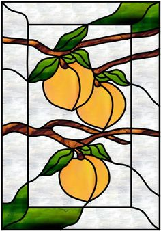 Stained Glass Patterns :: Stained glass peach pattern ::