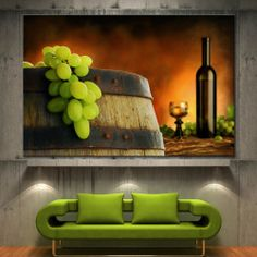 Wall Art Canvas Print Wine Composition Picture Fine Home Decor Prints 2