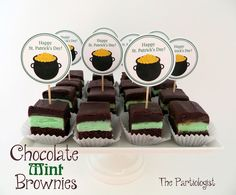 The Partiologist: Chocolate Mint Brownies!