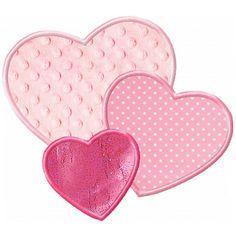 3 Hearts Applique -- 4x4, 5x7, 6x10 Planet Applique -- Own it!
