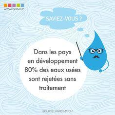 Dans les pays en développement, 80% des eaux usées sont rejetées sans traitement