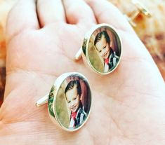 Solid Sterling Silver Cuff Links Customized with Your Photo - Photo Cuff Links - Picture cufflinks Father of Bride 15 Gift Pics Best Boyfriend Gifts, Best Gifts For Men, Gifts For Family, Gifts For Him, Funny Boyfriend, Anniversary Boyfriend, Anniversary Gifts, Birthday Gift For Him, Happy Birthday