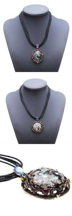 Vintage crystal carved stone beads chain pendant choker necklace necklace pendants with numbers #brighton #necklaces #pendants #jewelry #pendants #necklace #jewelry #pendants #suppliers #r #necklace #pendants