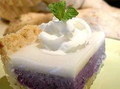 Purple Sweet Potato Haupia  Pie --  Yum! Haven't had any since we first moved to HI. Must make soon.