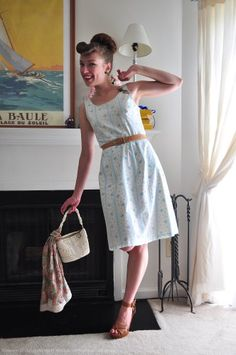 Pinup Fashion: super cute vintage dress and belt!