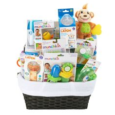 Shower mom and baby with the perfect present, a curated collection of Munchkin must haves for the first year. A wonderfully useful bundle for the sweet bundle of joy!