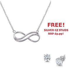 Sterling Silver Infinity Swirl Necklace - John Stewart Jewellers