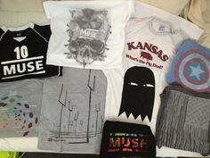 Muse shirts + some that Matt Bellamy wears