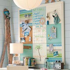 Adorable Sea Themed Kids Room Wall Decor Ideas - Put a Sea Inspired Cork-board on The Homework Station Wall Teen Room Decor, Room Wall Decor, Teen Girl Bedrooms, Teen Bedroom, Diy Bedroom, Cool Ideas, 31 Ideas, Cute Teen Rooms, Do It Yourself Decoration