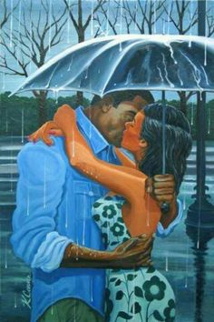 Keith Conner - Wet Kisses (2009), African-American Art, Love, Romance