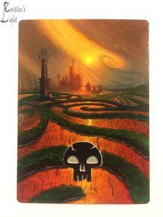 Swamp - Kaladesh Full Art - MTG Alter - Revelen's Light Altered Art Magic Card