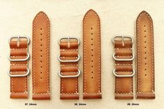 20mm 22mm 24mm Handmade Vintage MOD Military Zulu 2 Leather Strap James Bond   eBay