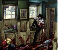 Jeff is not my favorite creepypasta, but I like this picture a lot. Creepypasta!