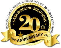 Happy Anniversary! S-Tek has been providing quality building solutions since 1995!
