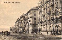 GENOVA - Via Casaregis - FOTO STORICHE CARTOLINE ANTICHE E RICORDI DELLA LIGURIA