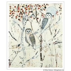 Silver Owl Home Decor / Barn Owls at Midnight by dolangeiman, $69.00