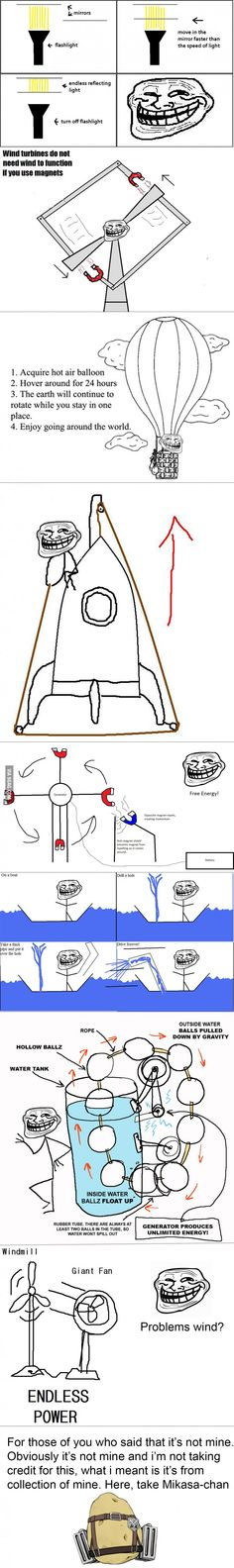 How to troll physics