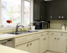 Painting your kitchen cabinets is a great way to refresh an outdated kitchen, and boy, I can tell...