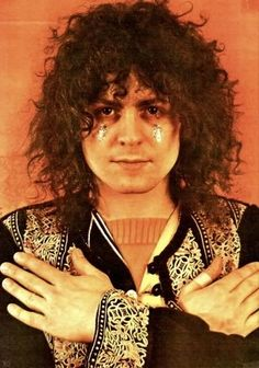 Marc Bolan...with his Les Paul, spaceball ricochet and glitter tears