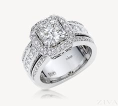 Vintage Square Diamond Ring with Princess Cut