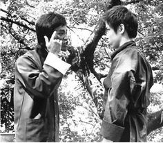 """ENTER THE DRAGON  /  """"Don't think. Feel !!"""" (one of my favorite scenes... esp when he slaps his head for bowing w/out keeping eyes on the opponent ~Dahni)"""