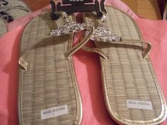 Brand New Goldtone Sandals