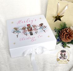 Personalised Christmas Eve Box, Personalised Box, Personalized Gifts, Savings Box, Bee Photo, Reindeer Food, Drummer Boy, White Box, Party Bags